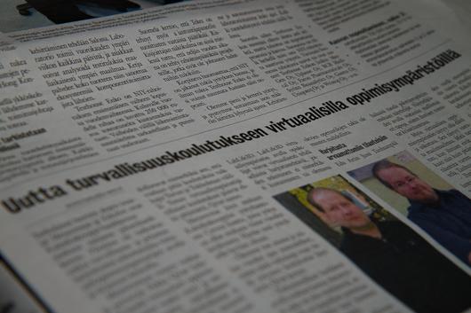 y lehti 1 Metaverstas ja virtuaalinen turvallisuuskoulutus esillä Varsinais Suomen Yrittäjä  lehdessä